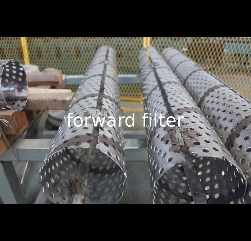 Tolerance 5% Perforated Stainless Steel Exhaust Tubing Rust