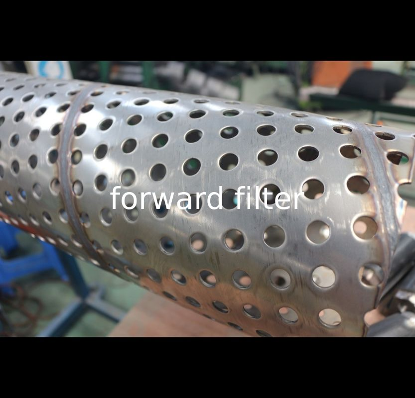 Round Perforated Stainless Steel Exhaust Tubing Architecture Surface Treatment
