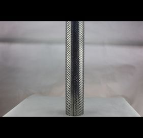 Thickness 1mm-50mm Perforated Metal Tube , Spiral Perforated Aluminum Pipe