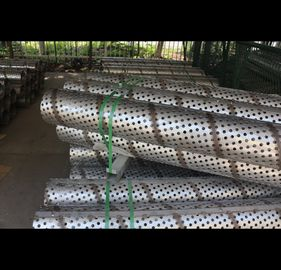 Galvanized Perforated Stainless Tube , Commercial 316 Perforated Round Tubing