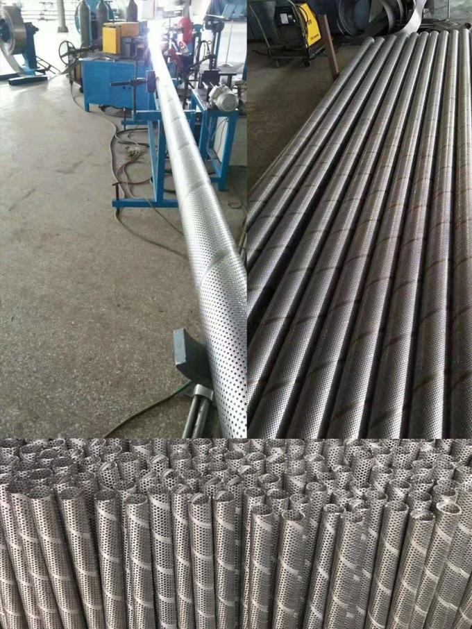 Rust Prevention Surface Spiral Perforated Tube ASTM GB For Architecture